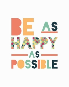 be as happy